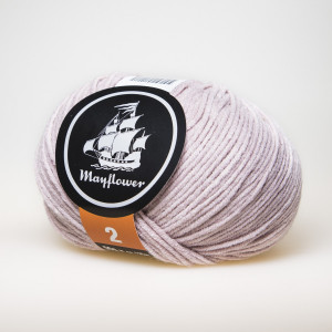 Mayflower Cotton 2 Garn Unicolor 253 Støvet Rosa