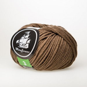 Mayflower Cotton 3 Garn Unicolor 350 Lys Brun