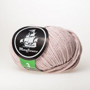 Mayflower Cotton 3 Garn Unicolor 353 Støvet Rosa