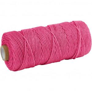 Knyttegarn / Knyttesnor Pink 2mm 100m