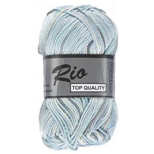 Image of   Lammy Rio Garn Print 622 Hvid/Grå/Blå 50 gram
