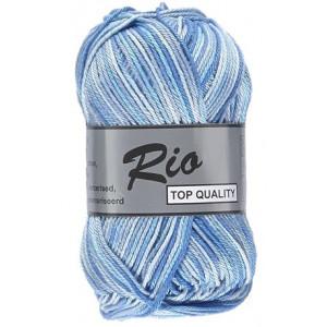 Lammy – Lammy rio garn print 623 hvid/blå 50 gram fra rito.dk