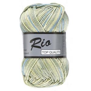 Lammy Lammy rio garn print 626 gul/grøn/blå 50 gram fra rito.dk