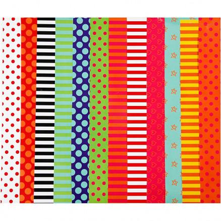 Glanspapir, ark 24x32 cm, 80 g, ass. farver, 50ass. ark thumbnail