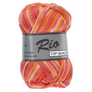 Image of   Lammy Rio Garn Print 629 Rød/Rosa/Orange 50 gram