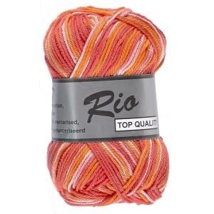 Lammy rio garn print 629 rød/rosa/orange 50 gram fra Lammy på rito.dk