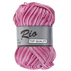 Image of   Lammy Rio Garn Print 630 Rosa/Cerise/Lilla 50 gram
