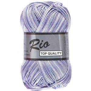Lammy rio garn print 631 blå/lilla/lavendel 50 gram fra Lammy fra rito.dk