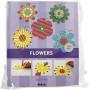 Blomster, diam. 20 cm, 400 g, hvid, 100stk.