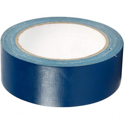 Gaffatape / Lærredstape, B: 38 mm, blå, 25m thumbnail