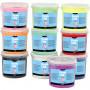 Foam Clay®, ass. farver, glitter, 10x560g