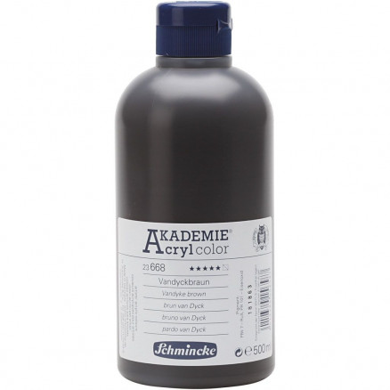 Schmincke AKADEMIE® Acryl color, Vandyke brown (668) , semi-transparen thumbnail