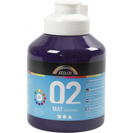 Image of   A-Color akrylmaling, violet, 02 - mat (plakatfarve), 500ml