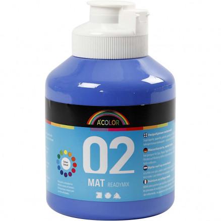A-Color akrylmaling, blå, 02 - mat (plakatfarve), 500ml thumbnail