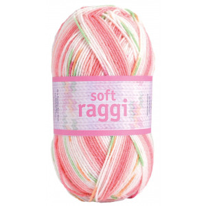 Järbo Soft Raggi Garn Print 31204 Rosa
