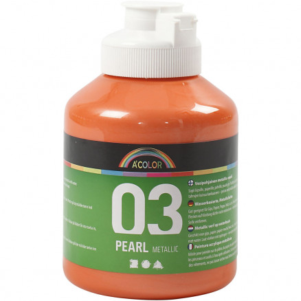 Image of   A-Color akrylmaling, orange, 03 - metallic, 500ml