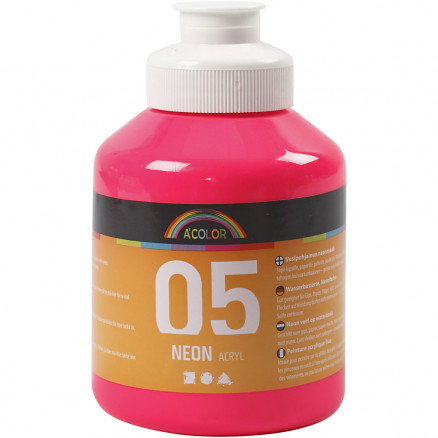 Image of   A-Color akrylmaling, neon pink, 05 - neon, 500ml