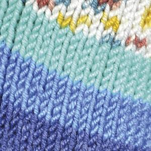 Järbo soft raggi garn print 31208 turkis/blå fra Järbo fra rito.dk