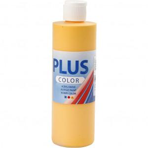 Plus Color hobbymaling, yellow sun, 250ml