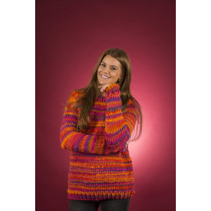 Mayflower Easy Knit Damesweater med rund hals - Bluse Strikkeopskrift str. S - XXXL