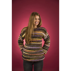 Mayflower Easy Knit Løs Damesweater - Bluse Strikkeopskrift str. S - XXXL