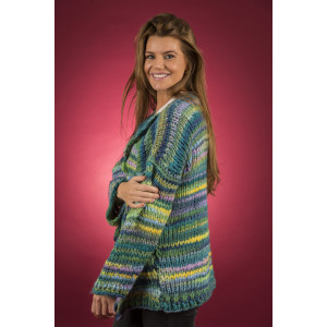 Mayflower Easy Knit Vamset Cardigan - Jakke Strikkeopskrift str. S - XXXXL