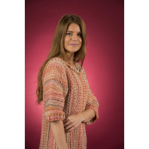 Mayflower Easy Knit Vamset Sweater med 3/4 ærmer - Bluse Strikkeopskrift str. S - XXXXL