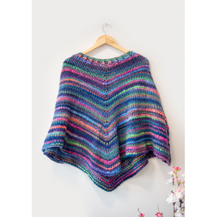 Image of   Mayflower Easy Knit Poncho - Poncho Strikkeopskrift str. One Size