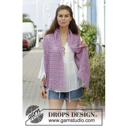 Image of   French Lavenderby DROPS Design - Stola Hækleopskrift 157x36 cm.