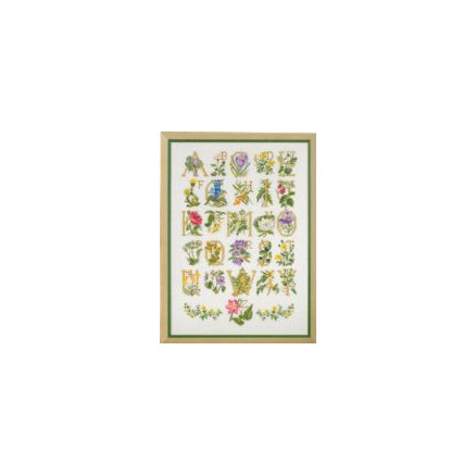 Image of   Permin Broderikit Blomster ABC 45x62cm