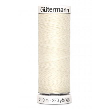 Image of   Gütermann Sytråd Polyester 001 - 200m