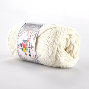 Mayflower Cotton 8/4 Junior Garn Unicolor 1401 Natur