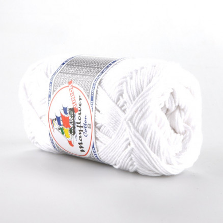 Image of   Mayflower Cotton 8/4 Junior Garn Unicolor 1402 Hvid