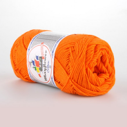Image of   Mayflower Cotton 8/4 Junior Garn Unicolor 1406 Orange
