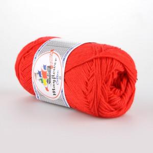 Mayflower Cotton 8/4 Junior Garn Unicolor 1411 Rød