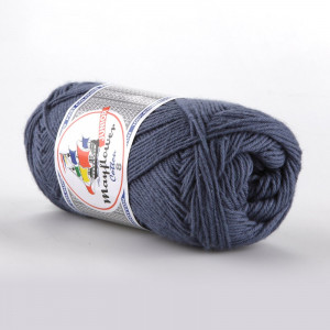 Mayflower Cotton 8/4 Junior Garn Unicolor 1421 Jeansblå