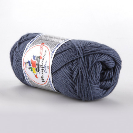 Image of   Mayflower Cotton 8/4 Junior Garn Unicolor 1421 Jeansblå