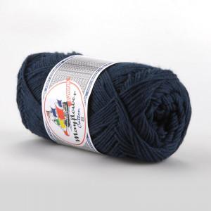 Mayflower Cotton 8/4 Junior Garn Unicolor 1423 Marineblå