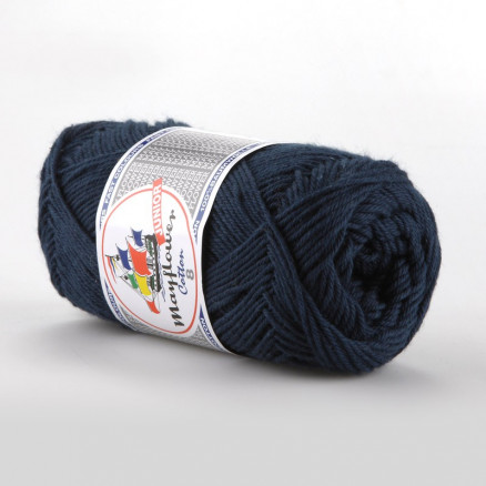 Image of   Mayflower Cotton 8/4 Junior Garn Unicolor 1423 Marineblå