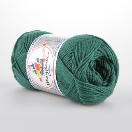 Image of   Mayflower Cotton 8/4 Junior Garn Unicolor 1429 Petrol