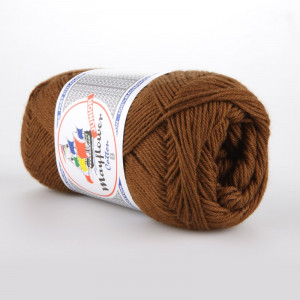 Mayflower Cotton 8/4 Junior Garn Unicolor 1432 Brun