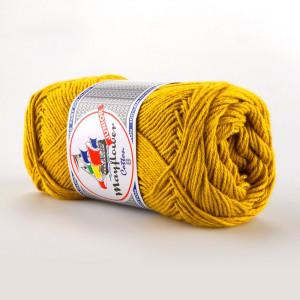 Mayflower Cotton 8/4 Junior Garn Unicolor 1435 Sennepsgul