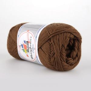Mayflower Cotton 8/4 Junior Garn Unicolor 1437 Rødbrun