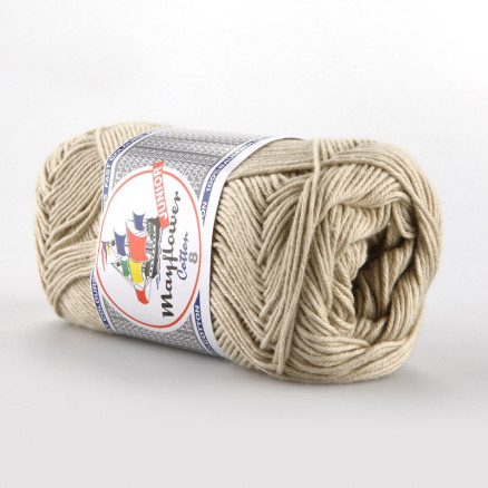 Image of   Mayflower Cotton 8/4 Junior Garn Unicolor 1438 Beige