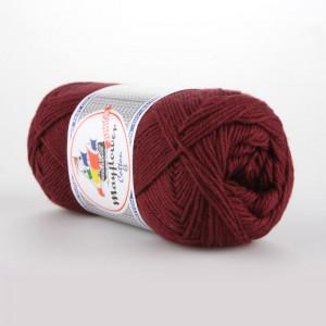 Mayflower Cotton 8/4 Junior Garn Unicolor 1454 Vinrød