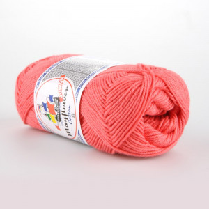 Mayflower Cotton 8/4 Junior Garn Unicolor 1460 Koral