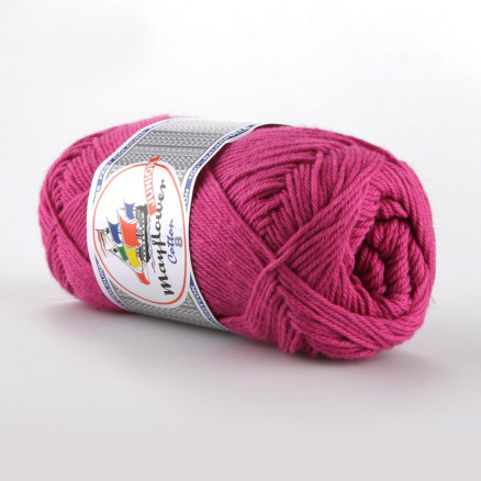 Image of   Mayflower Cotton 8/4 Junior Garn Unicolor 1470 Cerise