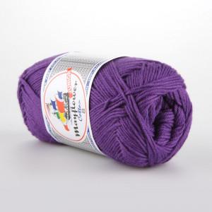 Mayflower Cotton 8/4 Junior Garn Unicolor 1477 Lilla
