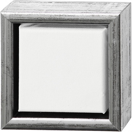ArtistLine Canvas med ramme, udv. mål 14x14 cm, dybde 3 cm, hvid, Lærr thumbnail