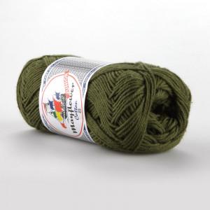 Mayflower Cotton 8/4 Junior Garn Unicolor 1487 Armygrøn